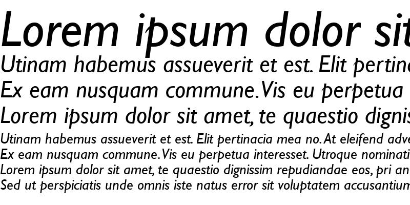 Sample of Gill Sans MT Italic