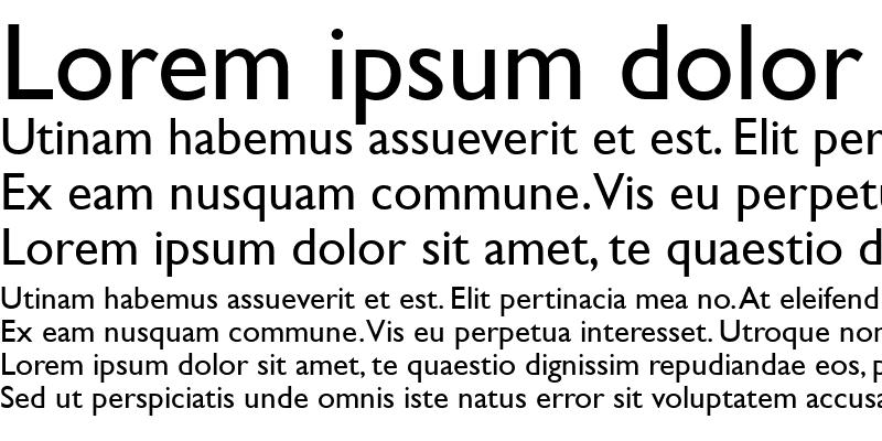 Sample of Gill Sans MT