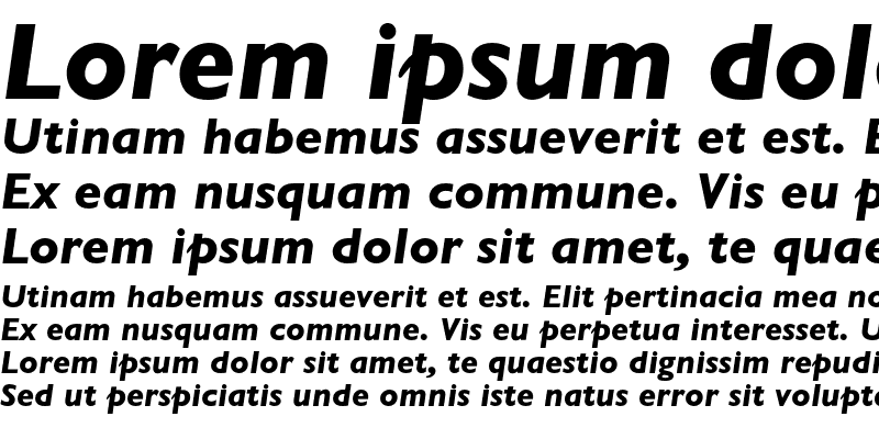 Sample of Gill Sans MT Std
