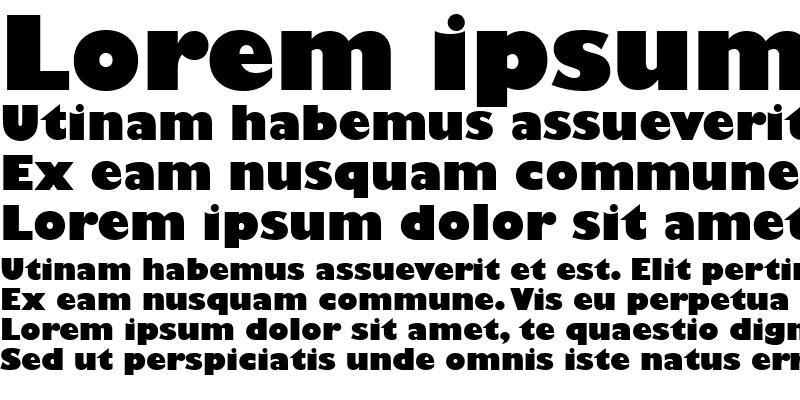 Sample of Gill Sans MT Ultra Bold Regular