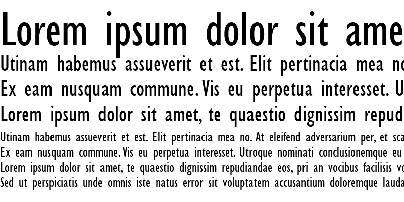 Sample of Gill Sans