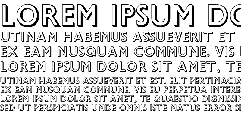 Sample of Gill Sans Shadow MT Std Regular