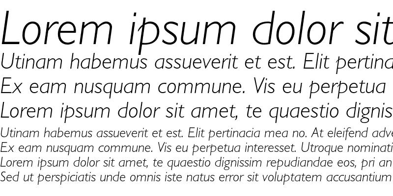 Sample of Gill Sans Std Light Italic