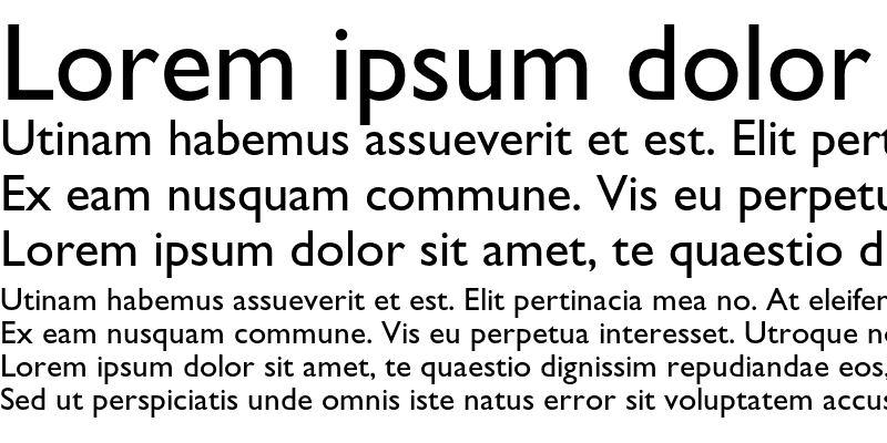Sample of Gill Sans Std