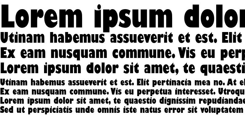 Sample of Gill Sans Ultra Bold Condensed Regular