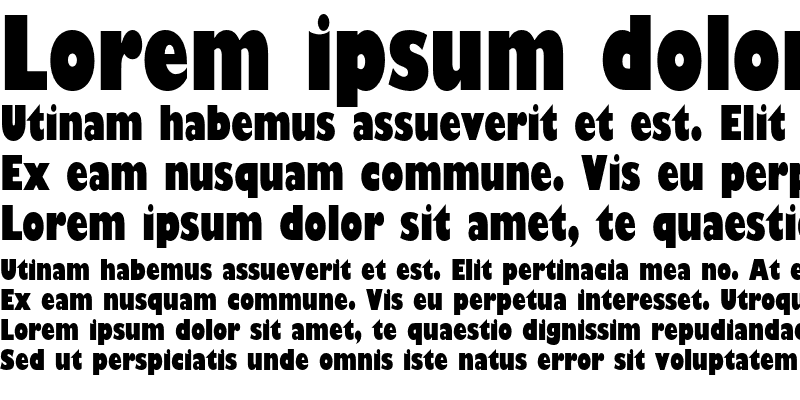 Sample of Gill Sans Ultra Bold Condensed