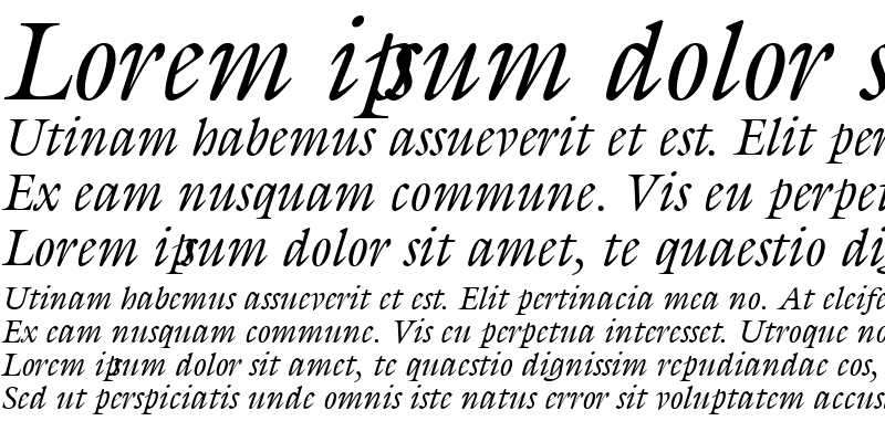 Sample of Gilliad Italic