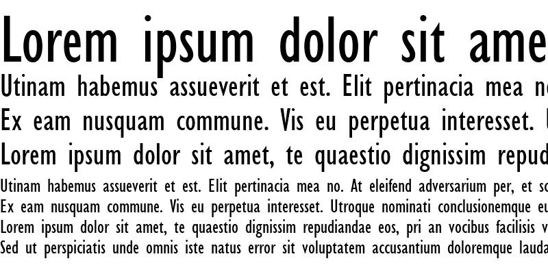 Sample of GillSans Condensed