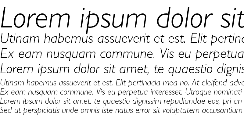 Sample of GillSans Light Italic