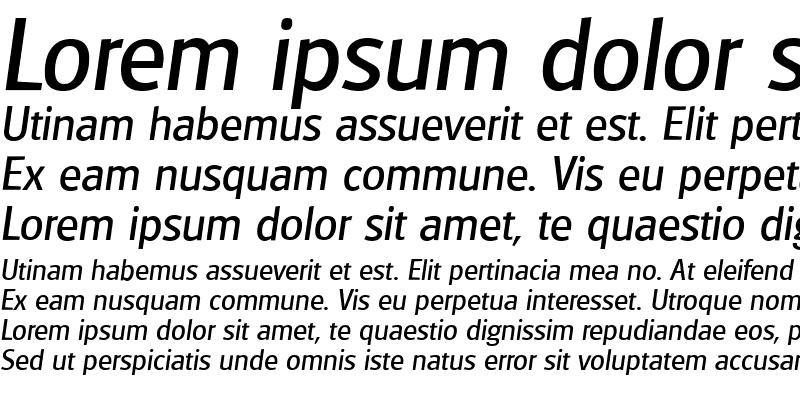 Sample of GlasgowSerial Italic