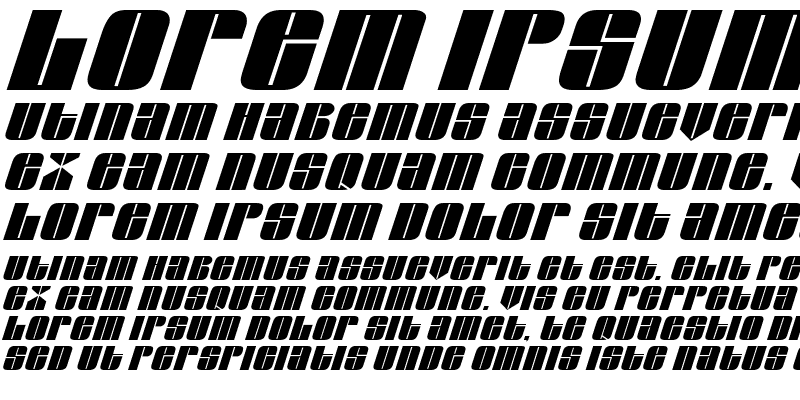 Sample of Glasser Italic Italic