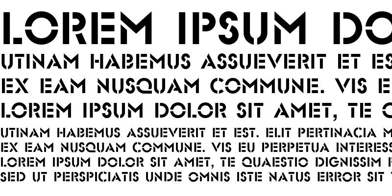 Sample of Glasten Regular