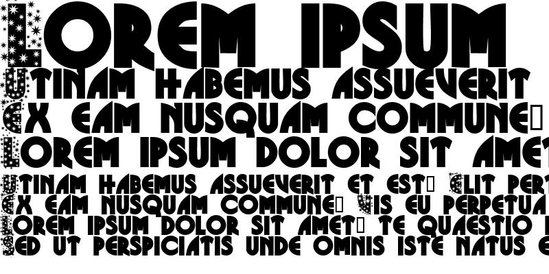 Sample of Glitter Font Regular