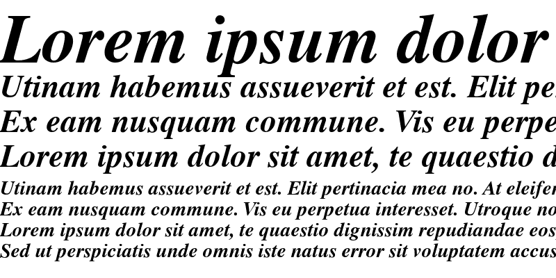 Sample of Globe Bold Italic