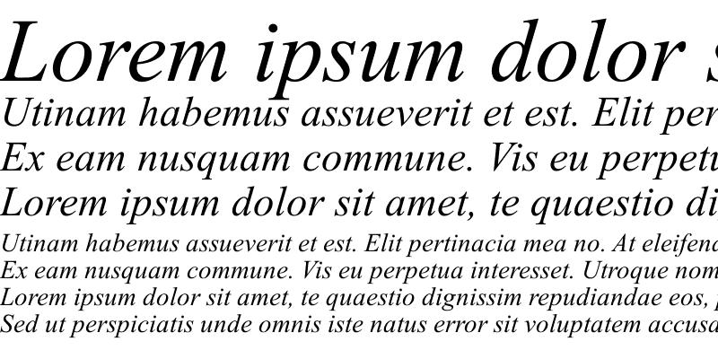 Sample of Globe Italic