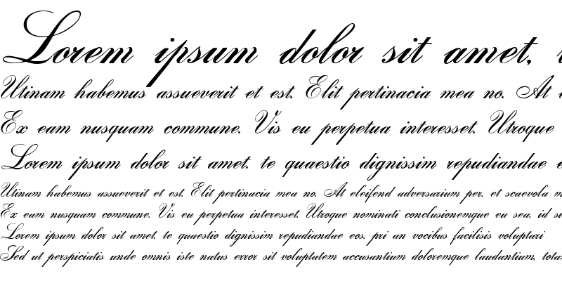 Sample of Gloria script