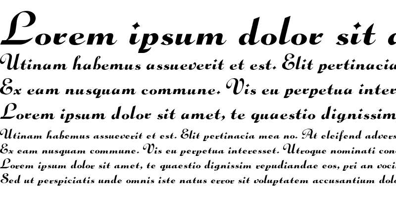 Sample of GloriaScript Regular