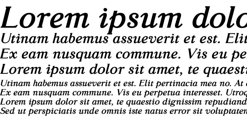 Sample of GlossoBold Italic