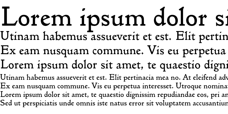 Sample of GoldenTypeEF Original Regular