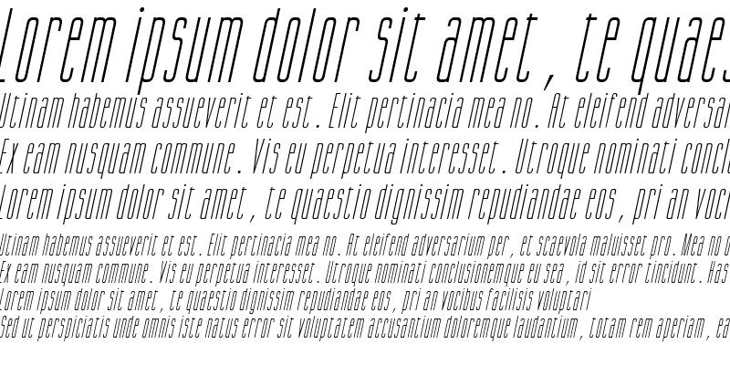 Sample of Gorgio Condensed Italic