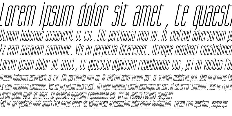 Sample of Gorgio Italic