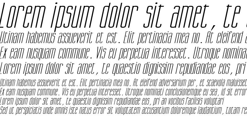 Sample of Gorgio Wide Italic
