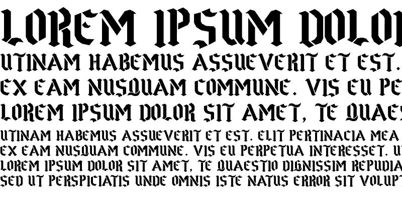 Sample of Goth Stencil Stencil