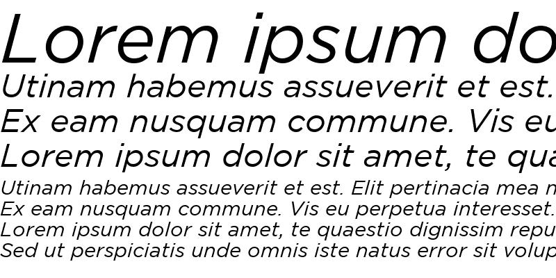 Sample of Gotham Book Italic