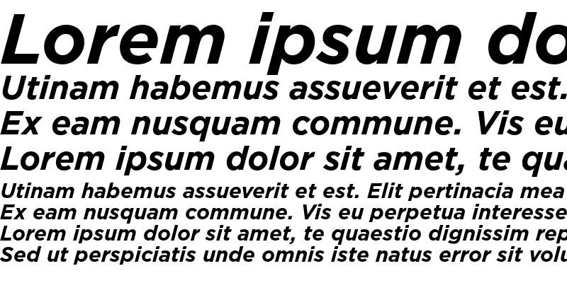 Sample of Gotham Italic