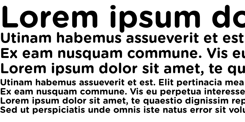 Sample of Gotham Rounded Bold