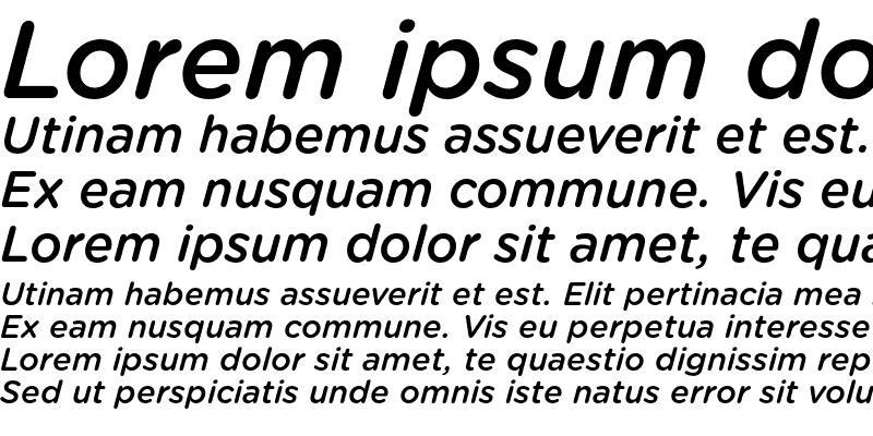 Sample of Gotham Rounded Medium Italic