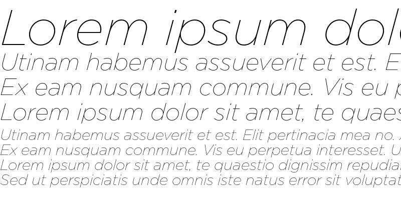 Sample of Gotham Thin Italic
