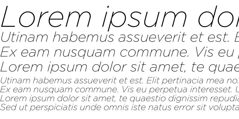 Sample of Gotham XLight Italic