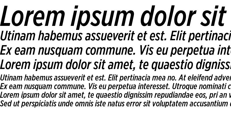 Sample of Gotham XNarrow Medium Italic