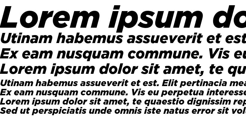 Sample of GothamBlack Italic