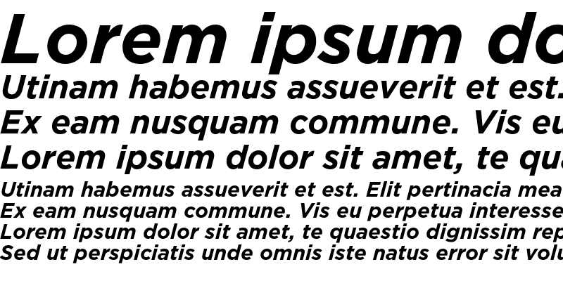 Sample of GothamBold Italic