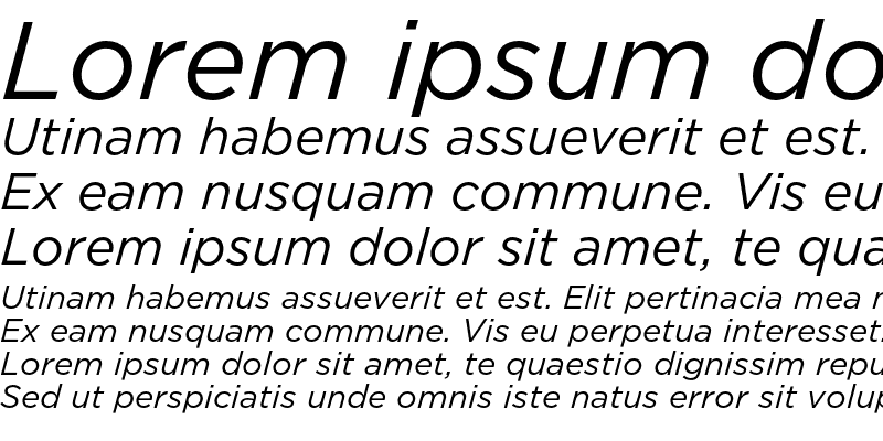 Sample of GothamBook Italic