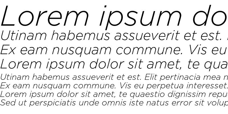 Sample of GothamLight Italic