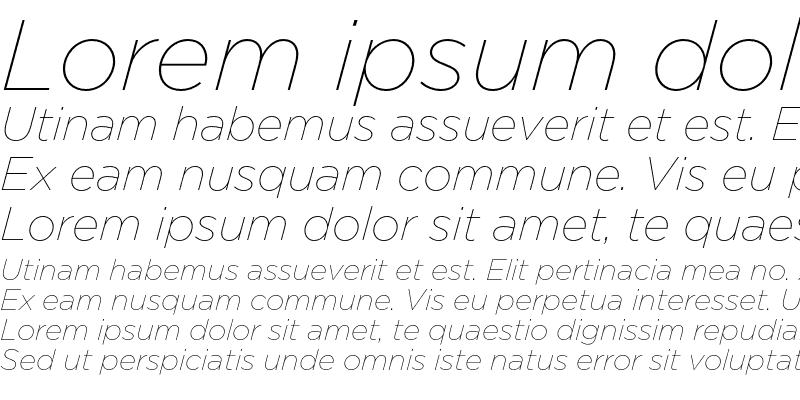 Sample of GothamThin Italic