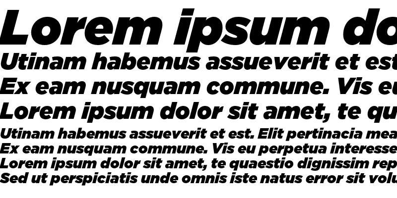 Sample of GothamUltra Italic