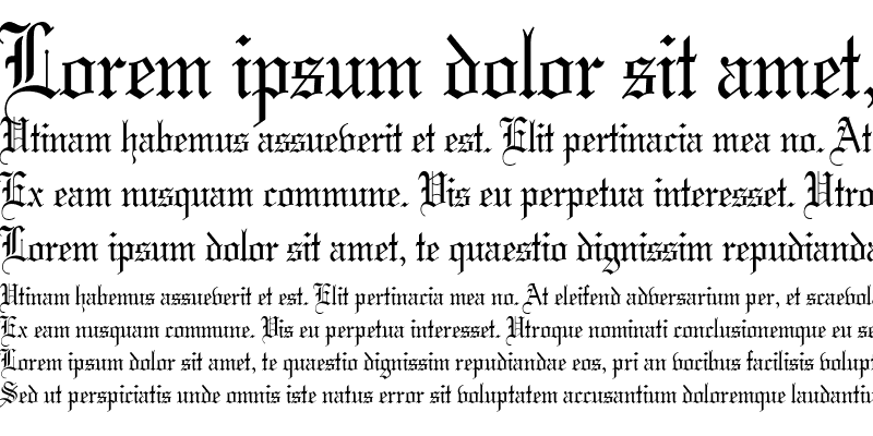 Sample of Gothic 57 Thin