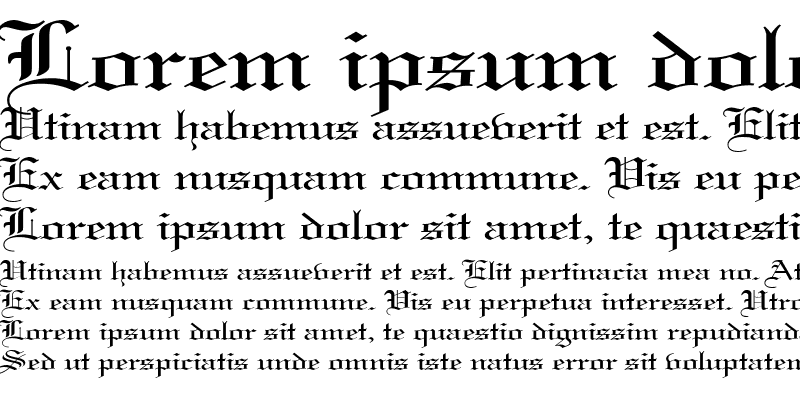 Sample of Gothic 57 Wide
