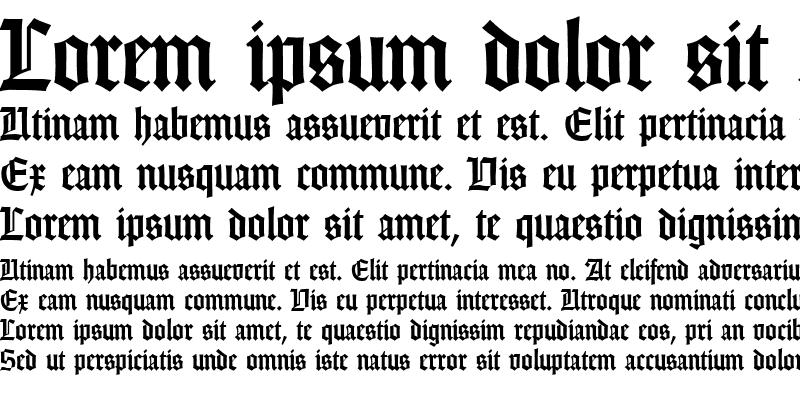 Sample of Gothic DB