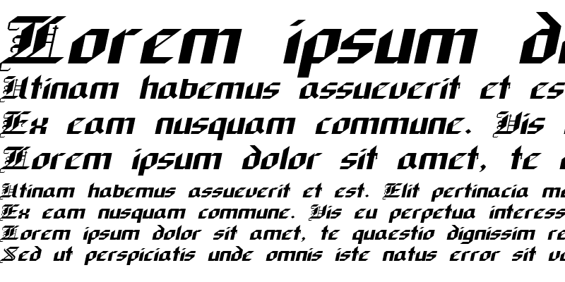 Sample of Gothic-Extended Italic