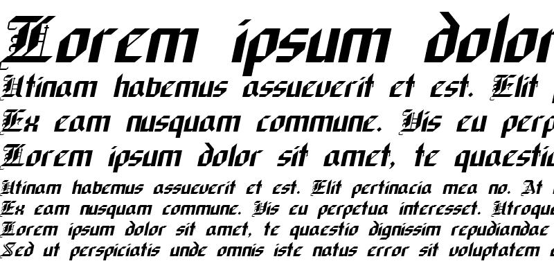 Sample of Gothic Italic
