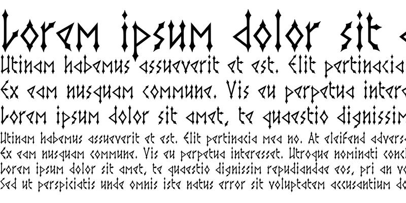 Sample of Gothica Regular