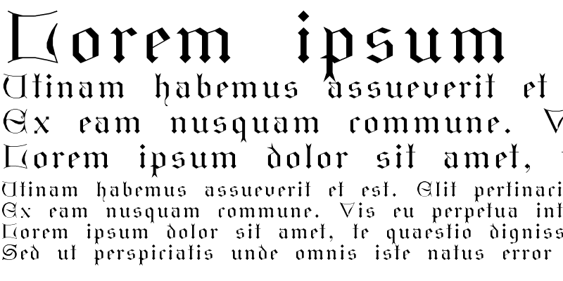 Sample of GothicI Regular