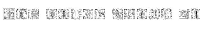 Preview of GothicIlluminate Regular