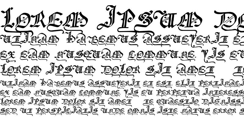 Sample of GothicMajuscles
