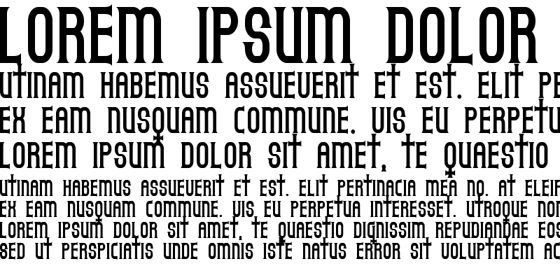 Sample of Gothicum Regular